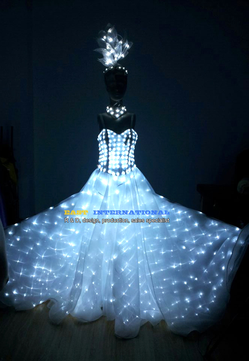 LED Clothing luminous /dance dress wedding /illuminated/glowing ...