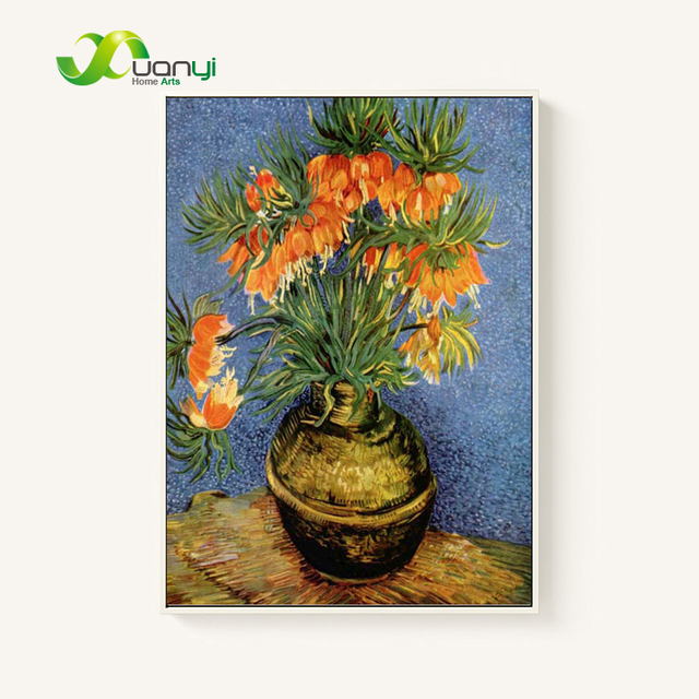 Flowers Van Gogh Oil Painting Reproductions Still Life Hand Painted