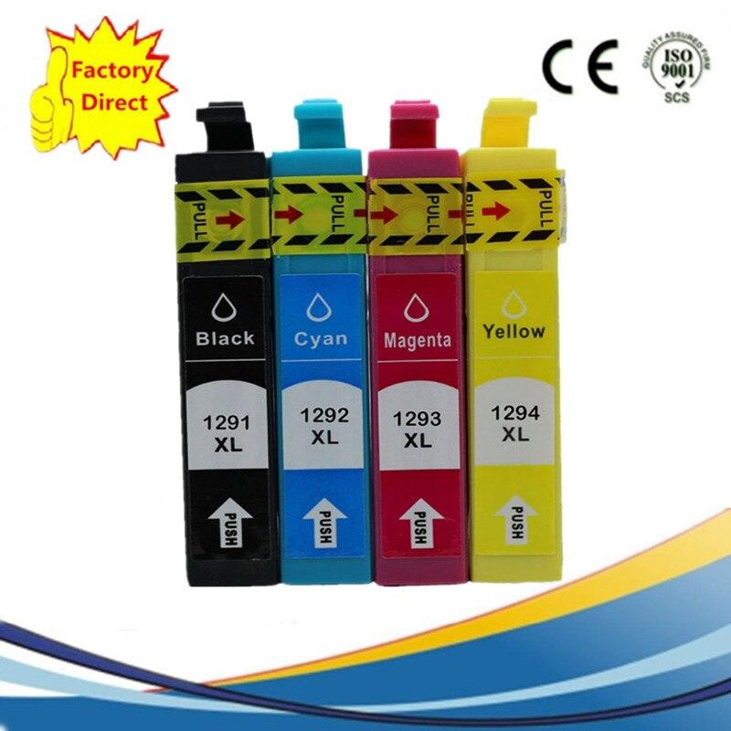 מחסנית t1295 - T1291 T129 T1295 Ink Cartridge Replacement   Stylus Office B42WD BX320FW BX525WD BX535WD BX625FWD BX630FW Printer