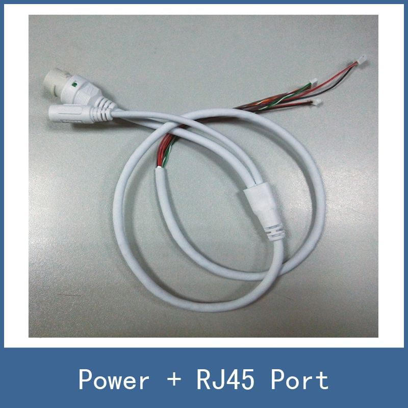 High Quality 2 Color CCTV IP Security Camera Module Circut Board PCB Cable Lines , Network RJ45 DC 12V Power Port Connector 10pcs cctv ip network camera pcb module video power cable 60cm long rj45 female