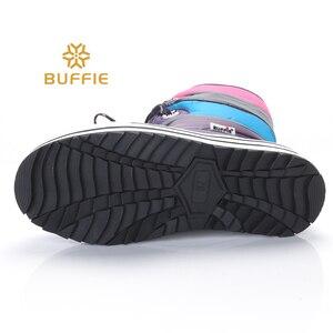 Image 4 - Fioletowe paski wysokie buty moda pani śnieg buty antypoślizgowe jakości buty zimowe buty dziewczęce uwalnia statek pluszowa futrzana podszewka gorącym stylu