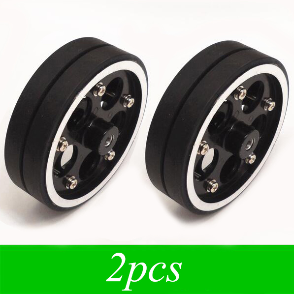2pcs Smart Car Wheels Robot Heavy Metal Wheel Tires 95mm Spare Parts For Diy Models Width 28mm In Accessories From Toys Hobbies On