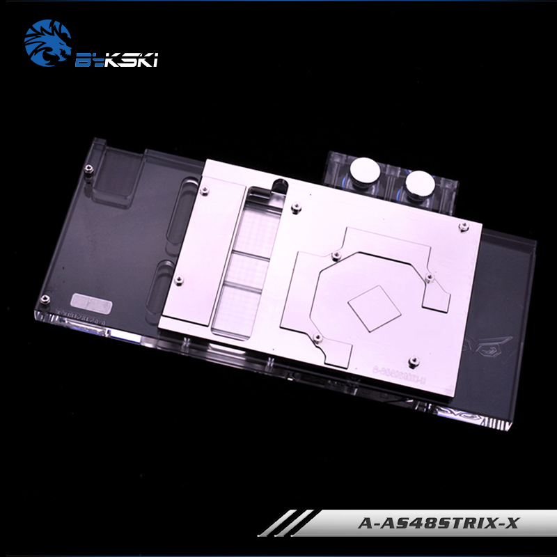 Купить с кэшбэком Bykski A-AS48STRIX-X, Full Cover Graphics Card Water Cooling Block for ASUS ROG STRIX-RX480-O8G-Gaming