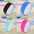 2016 New Sports LED Light Bracelet Watch Children Women Watches Men Digital Wristwatch Shock Fashion Plastic Clock Cuff Bangles