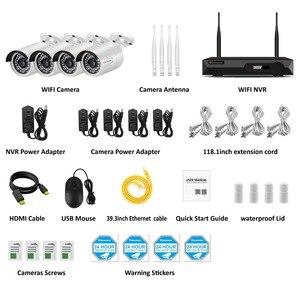 Image 3 - Einnov H.264 + NVR Kit Video Überwachung Wifi 1080P IP Kamera CCTV Set Startseite Wireless Security Kamera System Wasserdicht IP66 HD
