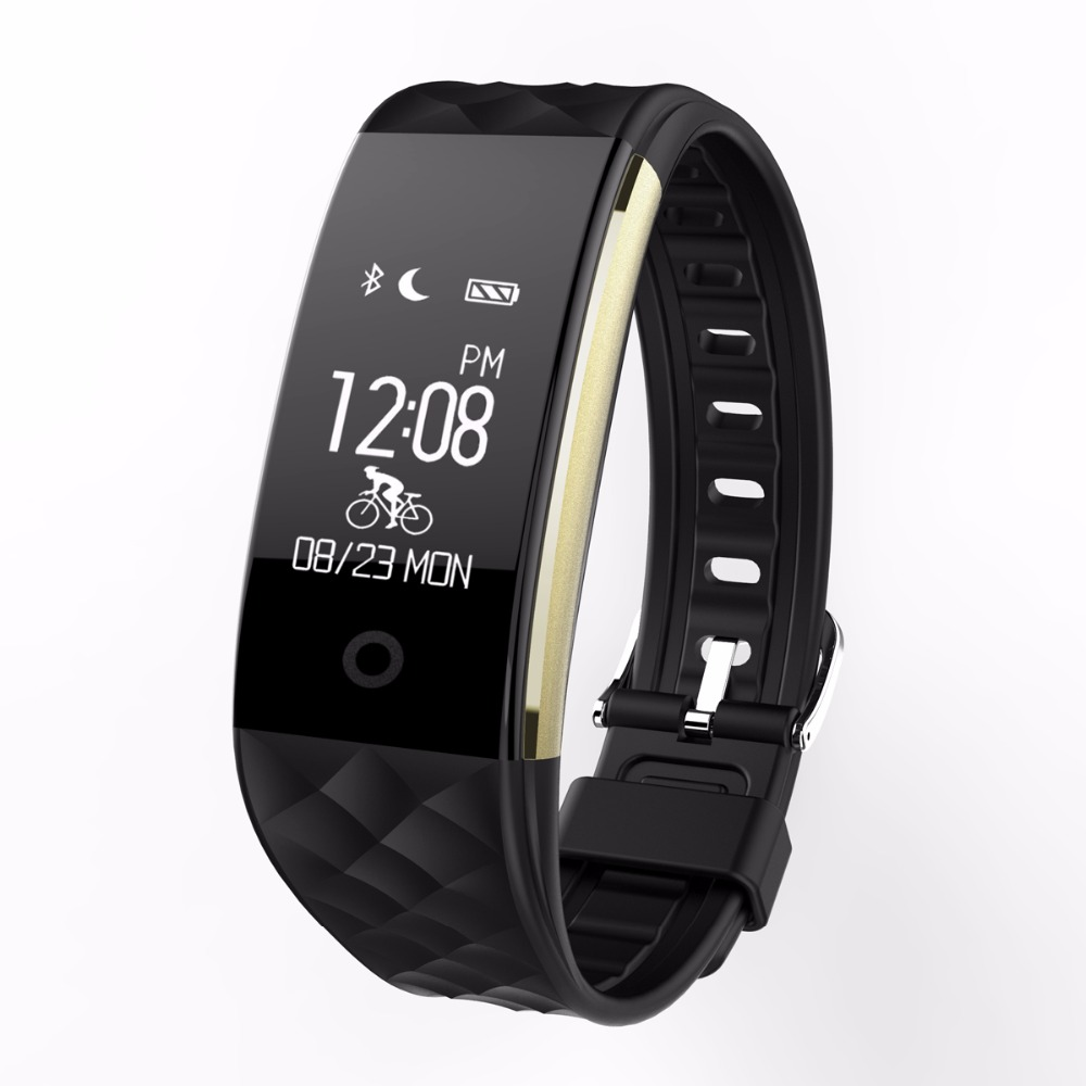 S2 Bluetooth Real Time Heart Rate Wristband IP67 Waterproof Fitness Tracker Pedometer Riding Mode for Android