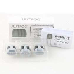 3Pcs/Pack Justfog Minifit Pod Cartrdiges Atomizer 1.5ml Capacity 1.6ohm built-in Coils Fit Minifit Electronic Cigarette Kit