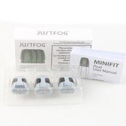 3Pcs/Pack Justfog Minifit Pod Cartrdiges Atomizer 1.5ml Capacity 1.6ohm built-in Coils Fit Minifit Electronic Cigarette Kit