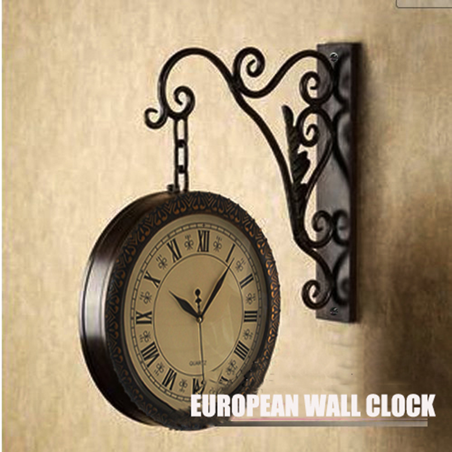Europe Style Hanging Vintage Clock Wall Mechanism Classical Large Decorative Antique Retro Horloge Mural Home Clocks 50A0800