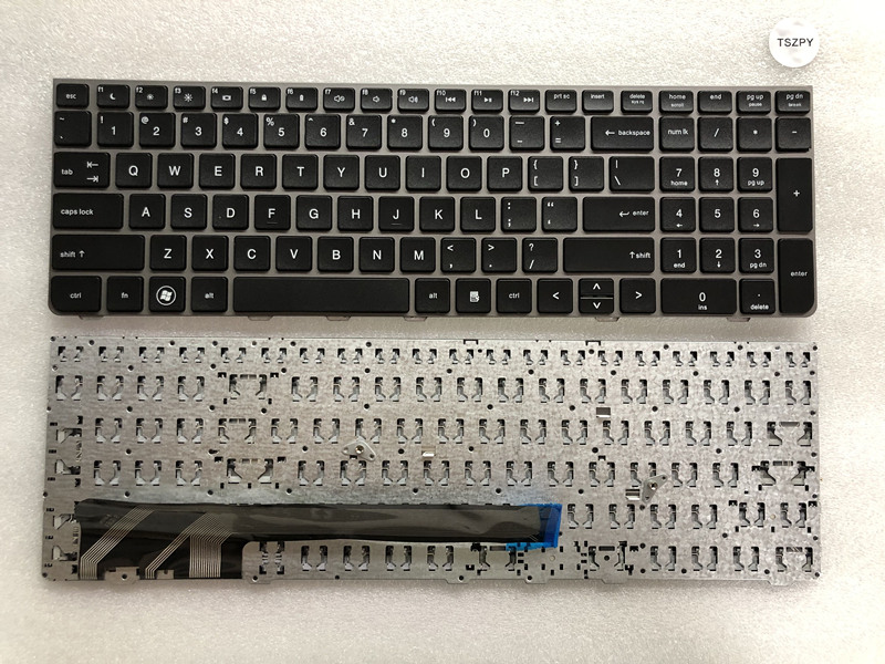 New US black keyboard for HP ProBook 4530s 4535s 4730s 638179 001 9Z.N6MSV.001 with frame-in Replacement Keyboards from Computer & Office on