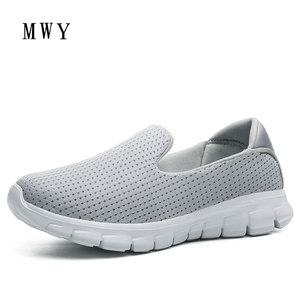 Image 2 - MWY Summer Women Sneakers Mesh Flats Shoes Comfortable Driving Shoes Basic Outwear Slip On Femail Casual Shoes tenis feminino