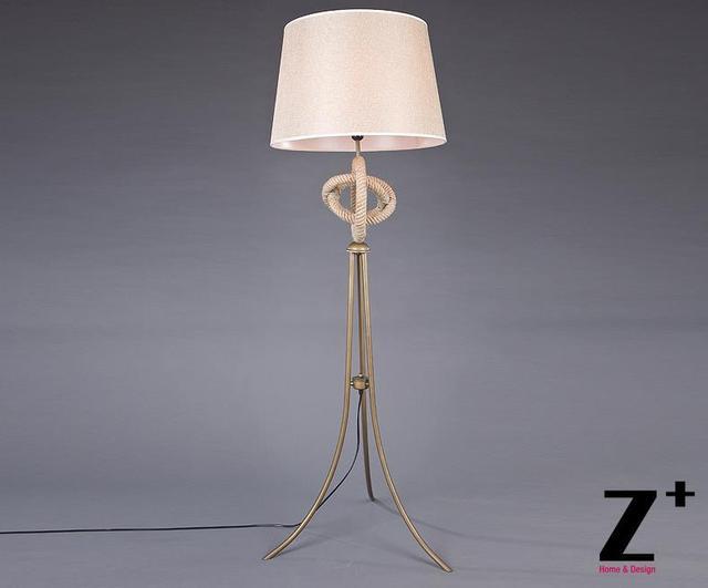 Lampada Vintage Da Terra : Country style vintage lampada da terra camera da letto lampada corda