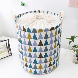 Thickened Laundry Basket with Handle Collapsible Washing Basket Decorative Cotton Organizer Container Toy Boxes Laundry Hamper