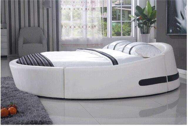 Diseño chino última king size cama redonda cama suave 811 en Camas ...