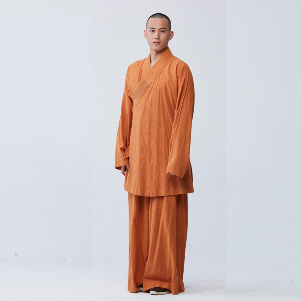 1590be985a3b7 ZanYing Zen Clothing Sets Monk Buddhist Outfit Long Shirt Wide Leg ...