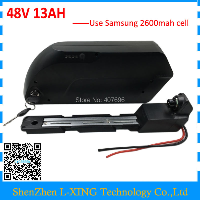 Down Tube Ebike Battery 48v 13Ah Electric Bike Dolphin Battery 48V 500W Samsung Lithium Battery Pack with USB Free customs fee hailong down tube electric bike battery 48v 14ah lithium ion ebike battery pack with capacity display charger for fat tire bike