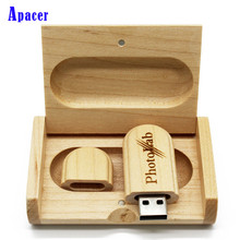 Apacer Wooden Usb  8GB 16GB  flash drive 64GB pendrive