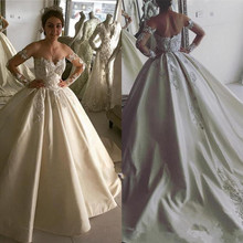 SexeMara Wedding Dress with Long Sleeves Backless Gowns