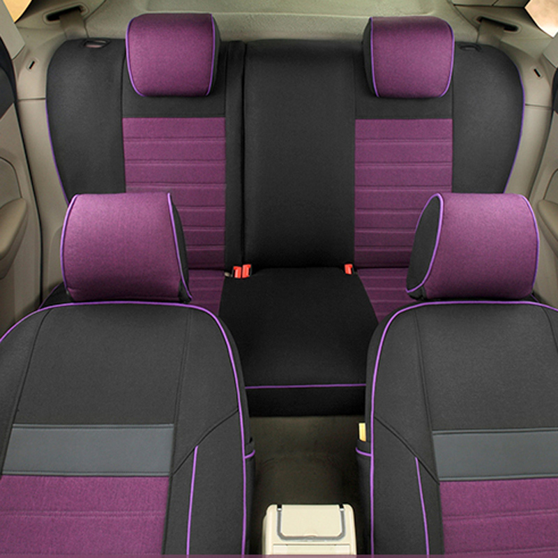 AutoDecorun Linen Fabric Cover Seat for VW EOS Accessories Car Seat covers Set for Cars Seat Support Automobiles Seat Protectors
