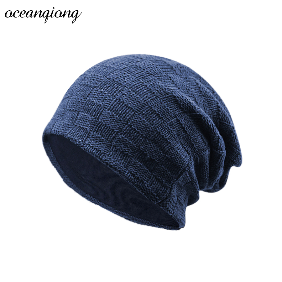 Hat Winter Men Women Skullies Beanies Women Men Knitted Hat 2017 Wool Women's Hats Elasticity Warm Knit Beanies Hat skullies