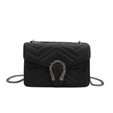 купить Classic Crossbody Women's Chain Quilted PU Leather Shoulder Bag Purse With Metal Chain Strap for Girls дешево