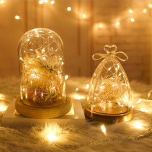 Wholesale 2M 3M 5M 10M LED Silver wire 3AA Battery Operated LED Fairy String Light for Christmas Holiday Wedding Party lights