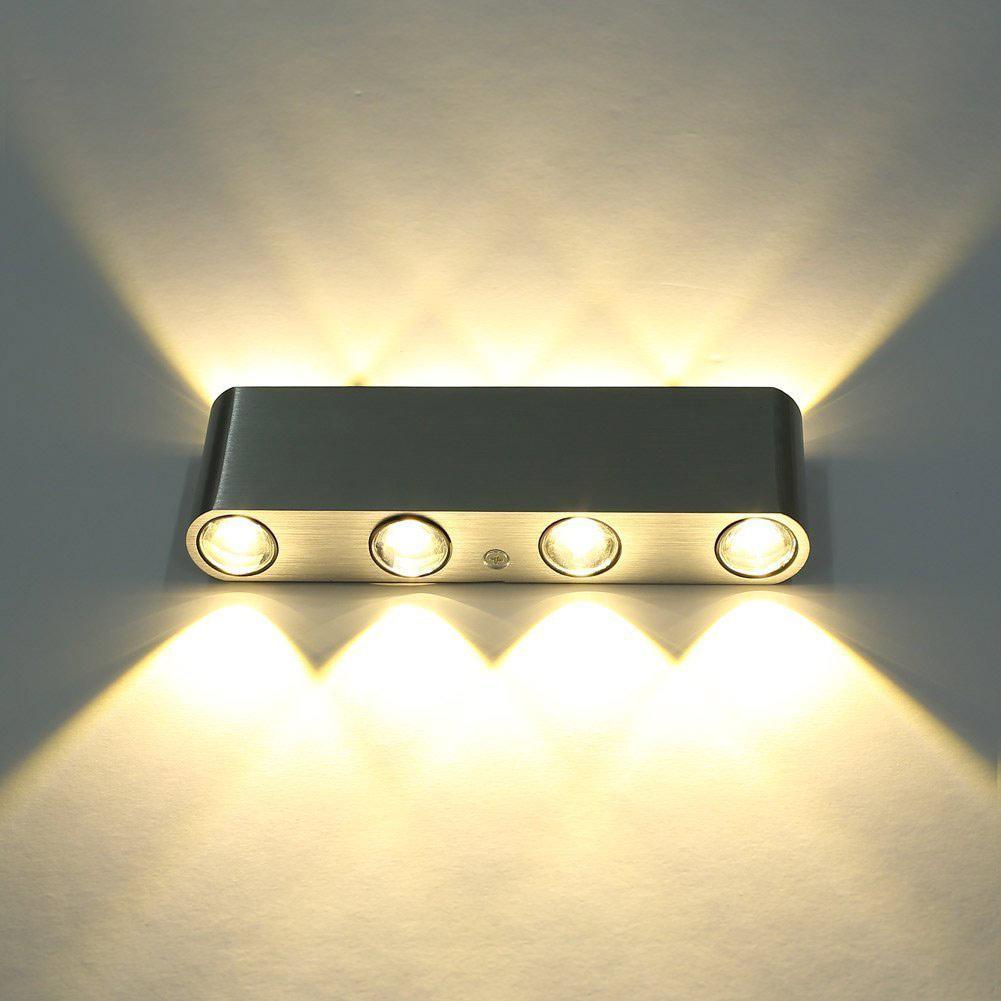 8w Modern Wall Lamp Energy Saving 8 Leds 720lm Wall Light Cool Warm White Lamp Bedroom Aisle Corridor Bathroom Light
