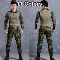 Men Army Camouflage Suit German Military Uniform Multicam Camo Combat Shirt Emerson Tactical Pants Kryptek Paintball