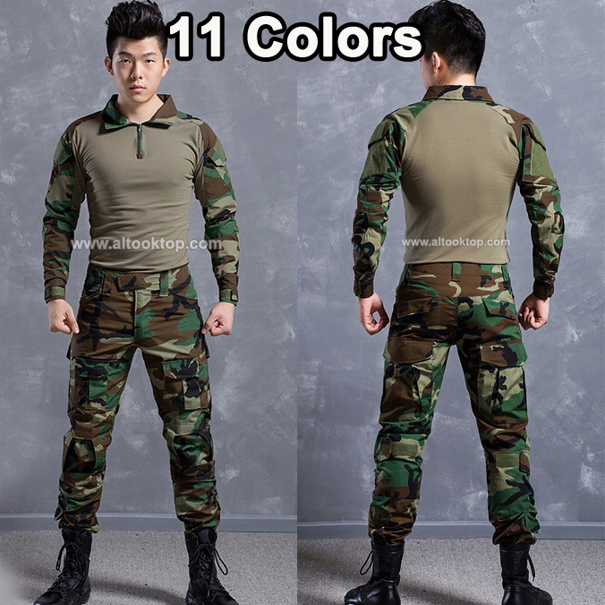 DHL 5sets Army camouflage german military uniform multicam combat shirt tactical pants camo paintball equipment softair ww2 usmc ...