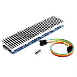 Модуль точечной матрицы MAX7219 для микроконтроллера Arduino 4 в одном дисплее с линией 5P красный/желтый зеленый/синий