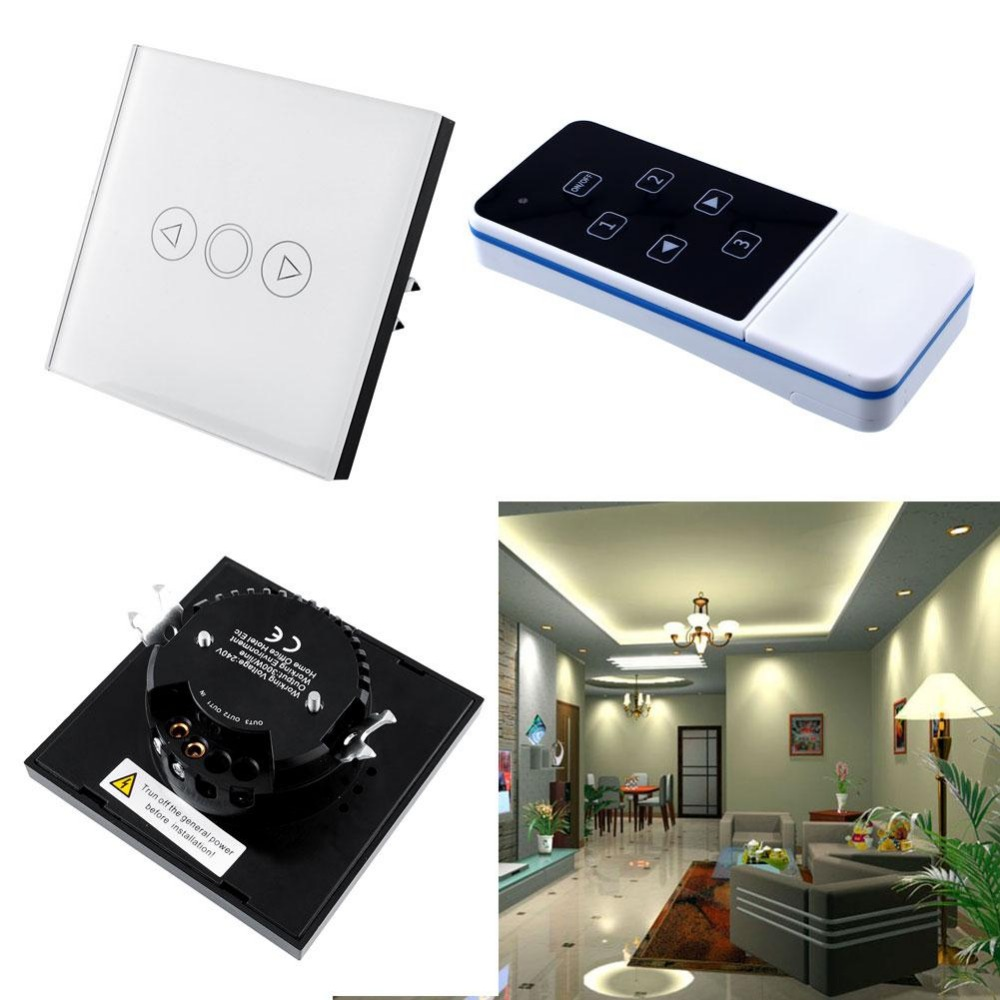 Light 1 Gang Home  Wall Touch Sensor Switch Smart Luxury Remote Control EDimmer Smooth White Crystal Glass Panel Fashion EU smart home luxury crystal glass 2 gang 1 way remote control wall light touch switch uk standard with remote controller