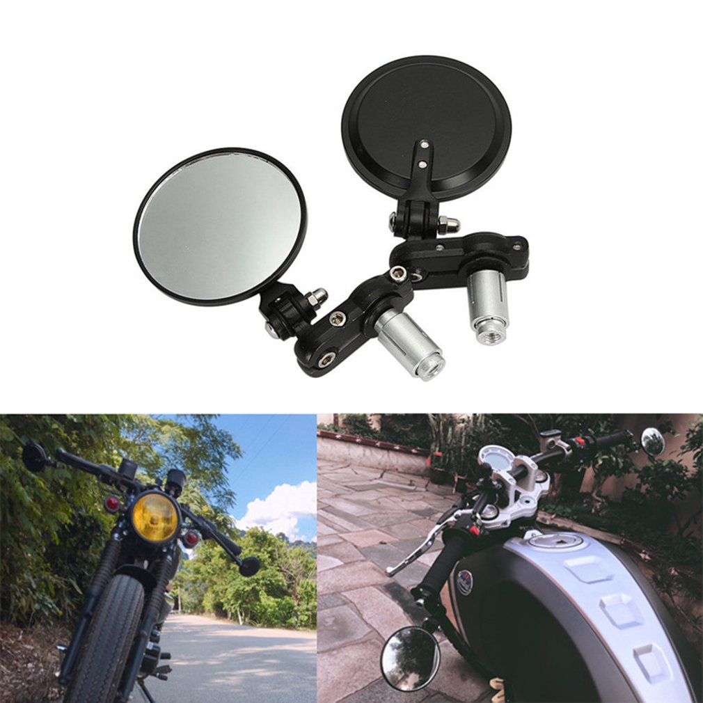 Applicable Exterior Diameter Handlebar Collapsible Aluminum Round Shape Motorcycle Bar Rearview Convexing Side Mirror Hot