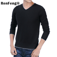 Cashmere Sweater V Neck man Fashion Autumn Pullovers Knit Cotton Male Sweater Men Slim thermal Coat Blouse Winter Knitwear Mens