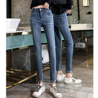 JUJULAND jeans for women with high waist pants for women plus up large size skinny jeans woman denim modis streetwear 0033