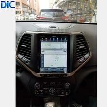 DLC sistema Android 6,0 pantalla vertical espejo enlace GPS coche estilo navegación reproductor vídeo bluetooth para Jeep cheroki 2016- 2017