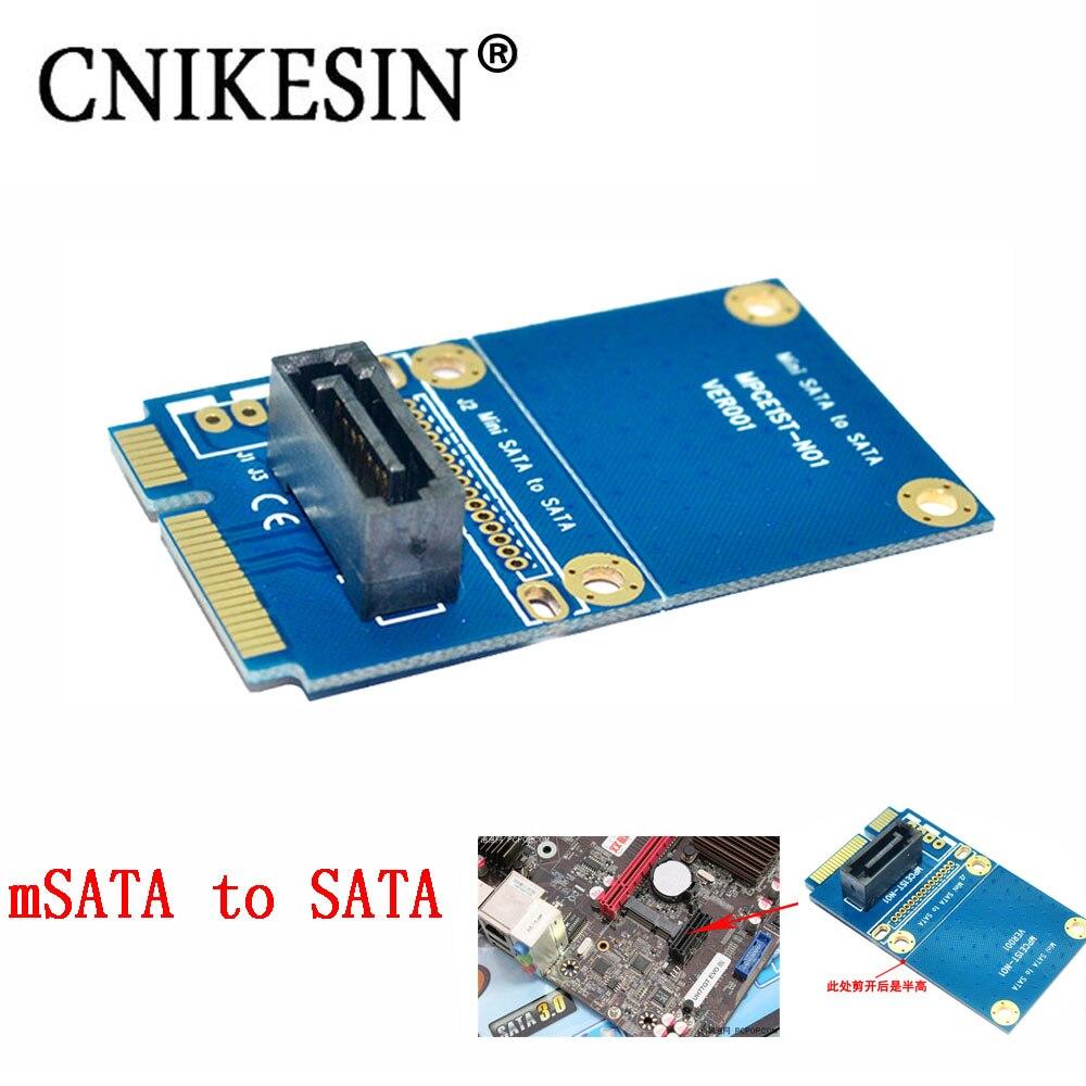CNKESIN MSATA to SATA riser card board mini pcie switch 7PIN SATA SSD solid state hard drive adapter card mini pcie msata 3x5 ssd to 1 8 micro sata adapter card usb micro sata cable 7 9pin 13pin usb to ssd usb to mini pcie