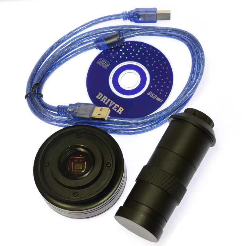 Appareil-photo de Microscope d'industrie numérique d'usb de 5.0MP HD 1/2. objectif en verre de 5