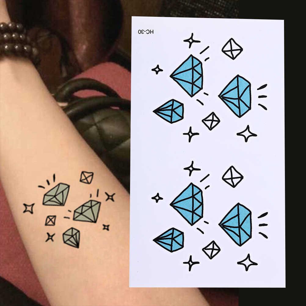10.5x6cm Waterproof Temporary Tattoo Diamond Stars Tatoo Henna Fake Flash  Tattoo Stickers Taty Tatto Tattoos Tatuajes