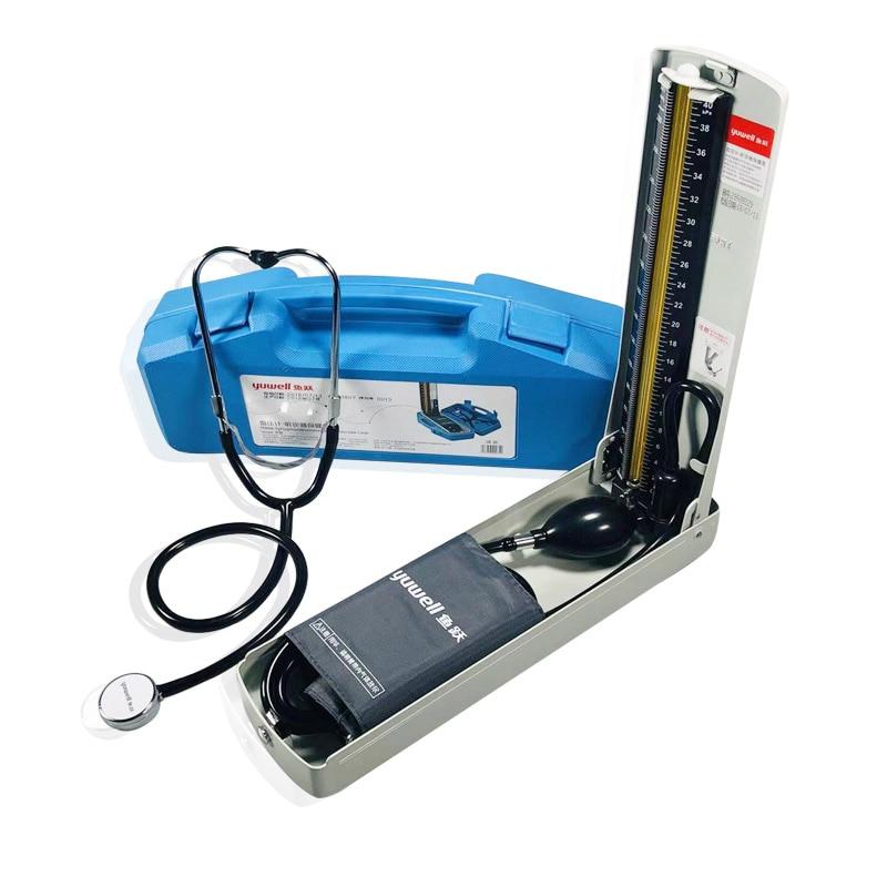 Yuwell sphygmomanomètre mercure équipement médical professionnel santé à domicile tensiomètre stéthoscope hématome-in Pression Du Sang from Beauté & Santé    1