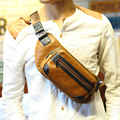 Fashion brands Men's messenger bags leisure leather chest pack crossbody chest bag small shoulder travel bag  mini phone bag
