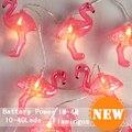 4M 40Pcs 8.5CM Flamingos Models String Lighting Night lamp Kid Children Room Decor Holiday lights Battery Operated Luminaria