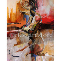 New Hand Painted Nude Girl Wall Art Naked Lady Sexy Abstract Oil Painting on Canvas Sex Oil Painting For Home Wall art