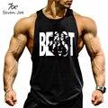 Siete Joe. ropa de marca Hombres Tank Top ropa de entrenamiento de impresión BESTIA Chaleco Stringer Culturismo Fitness ropa deportiva Camiseta