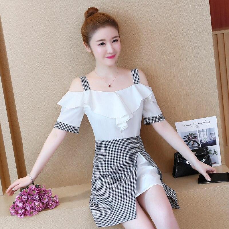 0a23b6c03 Aliexpress.com  Comprar Nuevo verano vestidos vestido corto con plaid  imprimir falda traje de dos piezas señora linda chica vestido de la ropa  diseño ...