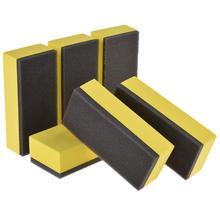 6 قطعة طلاء ورنيش الإسفنج صيانة السيارات الصبح الإسفنج المهنية والعملية أدوات صيانة السيارات