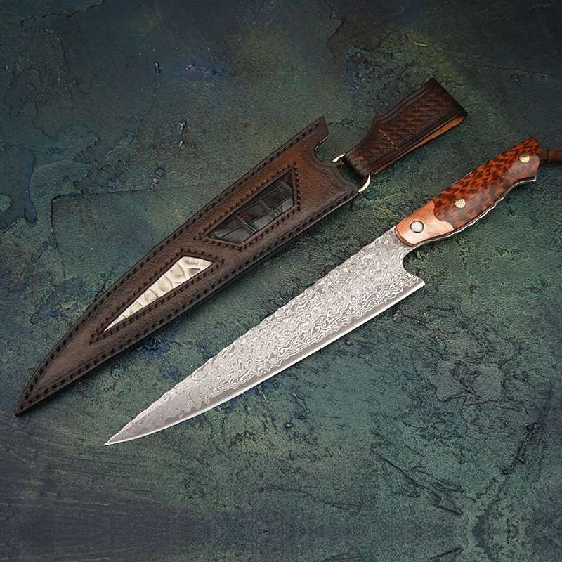 FZIZUO 8 Full Tang VG10 Damascus Steel Chef Knife Handmade Cleaver Sushi sashimi Japanese Cuisine Fillet