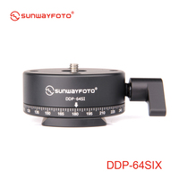 SUNWAYFOTO DDP 64SIX Indexing Head For Dslr 360 Panoramic Tripod Head Professional Aluminum Panoramic Tripod Head Indexing Head