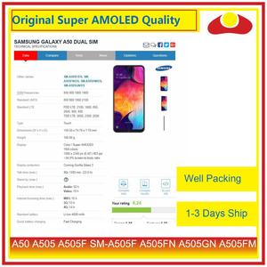 Image 4 - Pantalla LCD Original para Samsung Galaxy A50, A505, A505F, SM A505F, con Panel digitalizador de Pantalla táctil completa