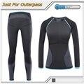 2017 novo underwear da marca térmica mulheres inverno quick dry anti-microbial trecho térmica conjuntos de underwear feminino quente long johns oi-q