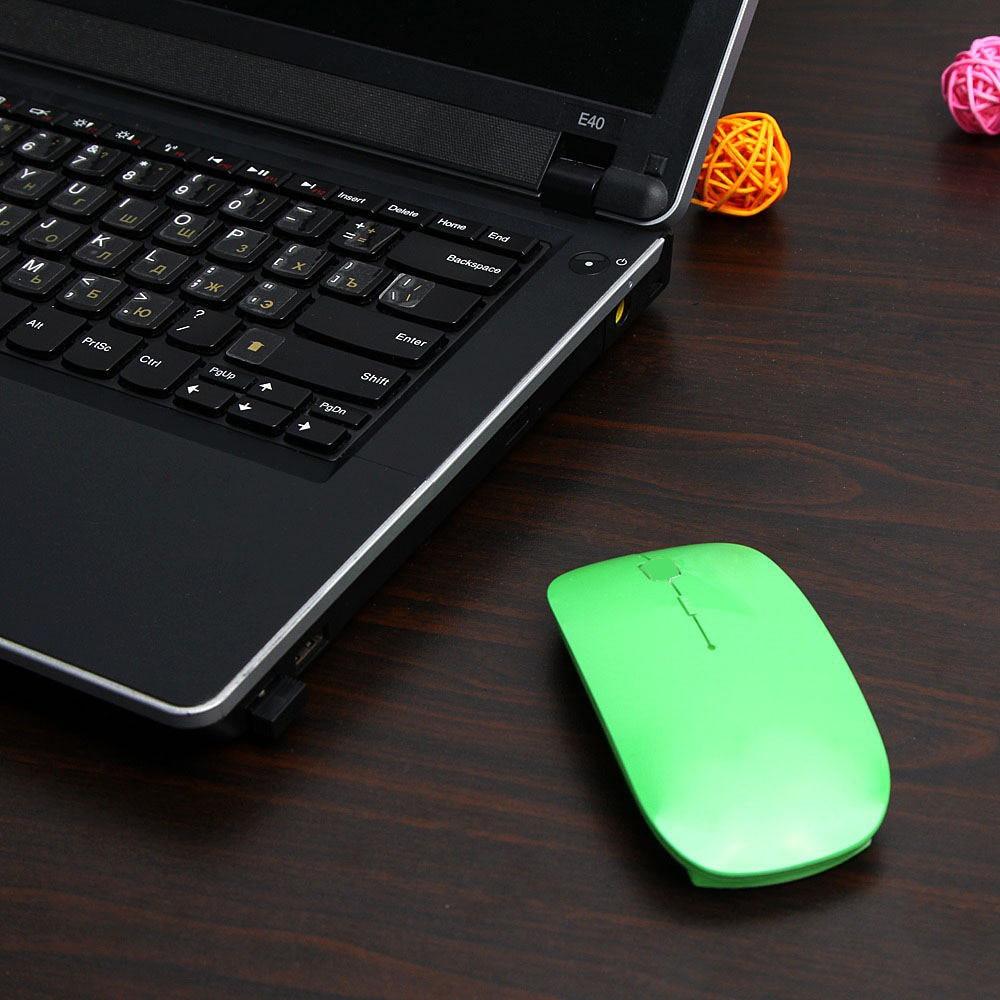 Ultra Thin USB Optical Wireless Mouse 2.4G Receiver Super Slim Mouse Cordless Computer PC Laptop Desktop 5